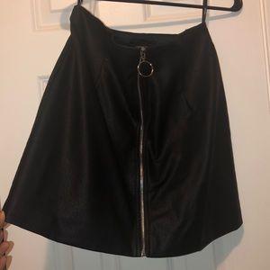 Nwot faux leather mini skirt